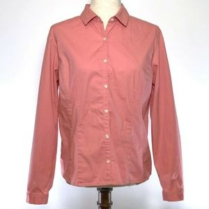 Ann Taylor Long Sleeve Button Front Blouse Stretch